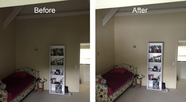 Before after how do you increase the light in a room for Installation fenetre sous sol