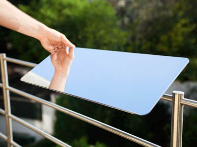 réflecteur de lumière naturelle espaciel balcon, installation sur balustrade