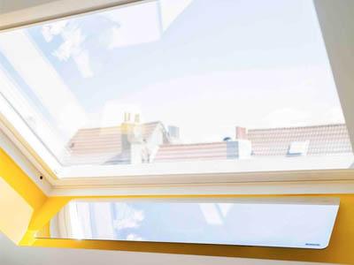 réflecteur de lumière naturelle espaciel intérieur, installation fenêtre de toit