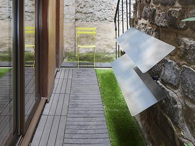 réflecteur de lumière naturelle espaciel mural, installation à visser dans une surface