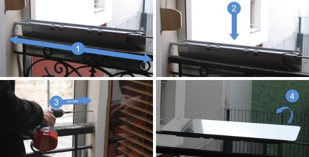 photo couverture installation réflecteur de lumière