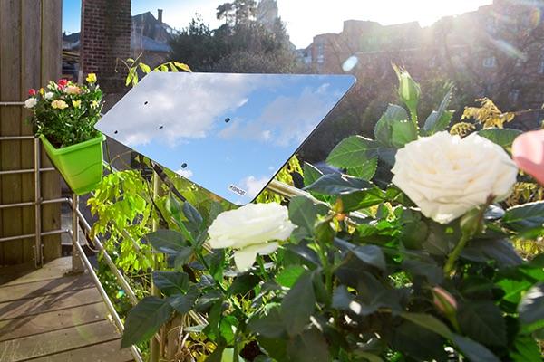 réflecteur de lumière naturelle balcon espaciel, gain de luminosité immédiate, levée de fonds