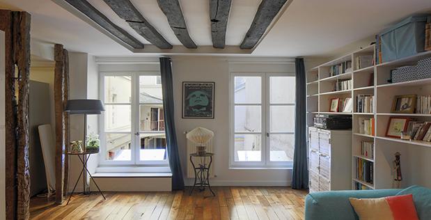 Éclairer un appartement, au 1er étage, sur cour – Témoignage de Joris à Paris
