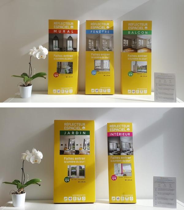 presentation-des-emballages-des-reflecteurs-de-lumiere-espaciel