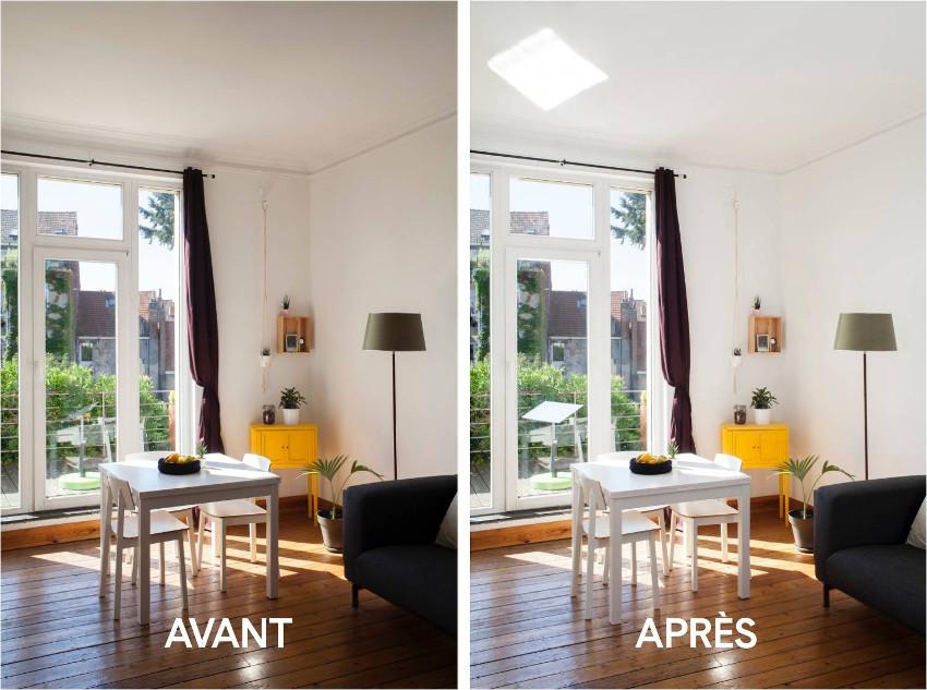 r flecteur jardin profiter chez soi de la lumi re du jour espaciel. Black Bedroom Furniture Sets. Home Design Ideas