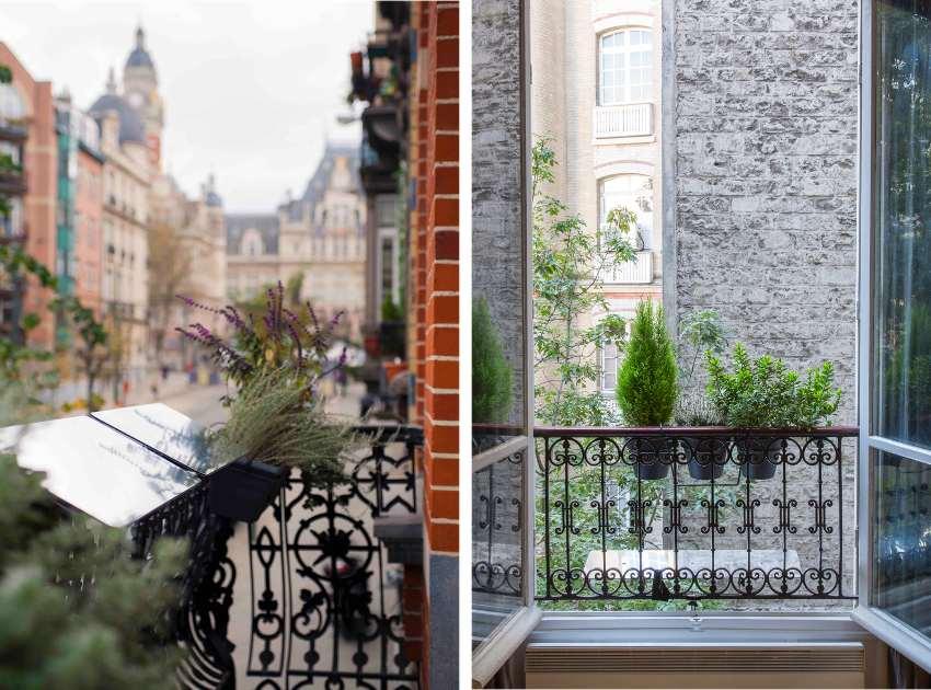 réflecteur de lumière naturelle espaciel balcon, installation aussi discrète qu'une jardinière